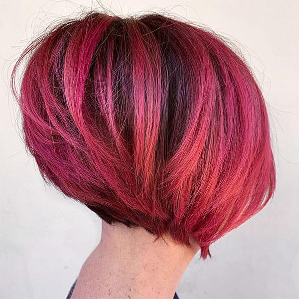 red hair short hair