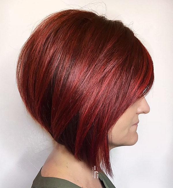 red hair short styles