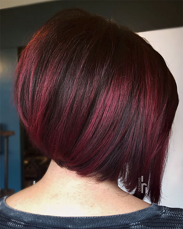 red short cut hairstyles