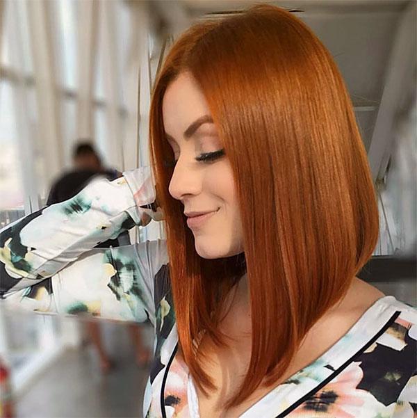 redhead short hair