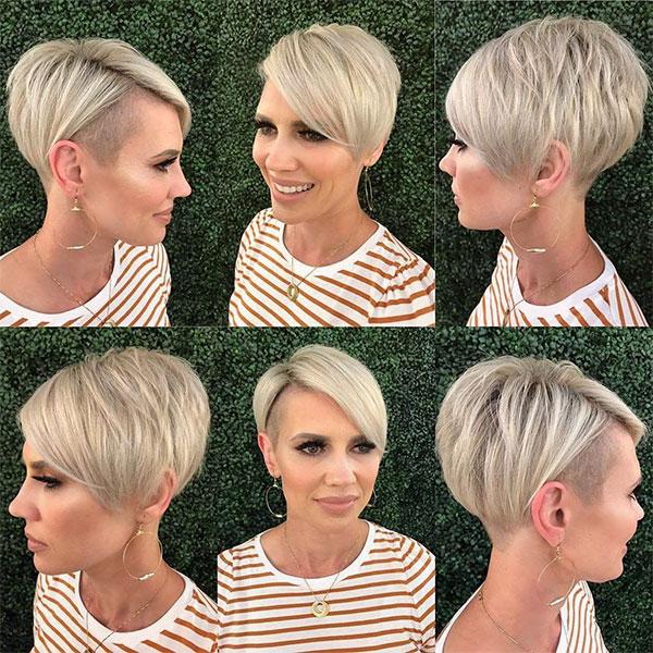 short blond cut