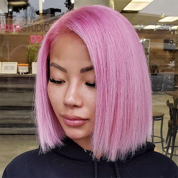 short cool pink hair