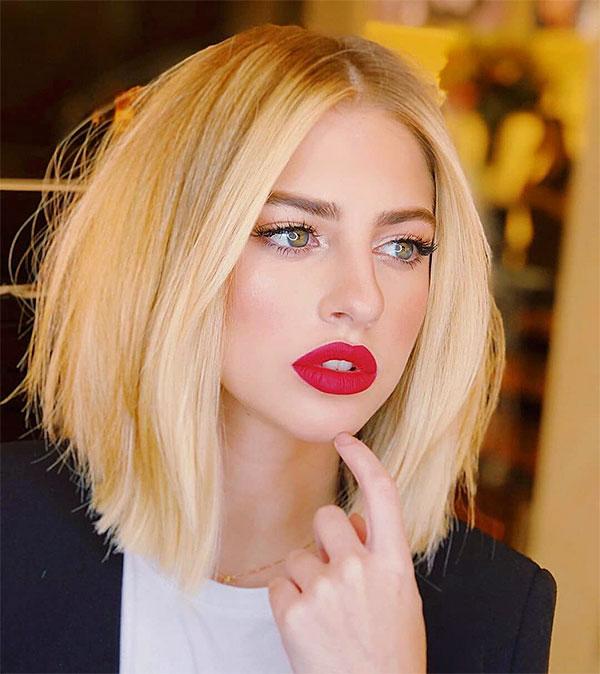short cut blonde
