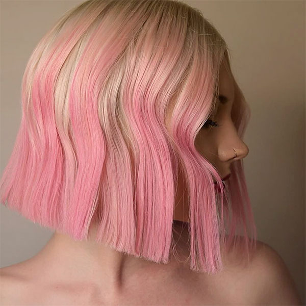 short cut pink hairstyles