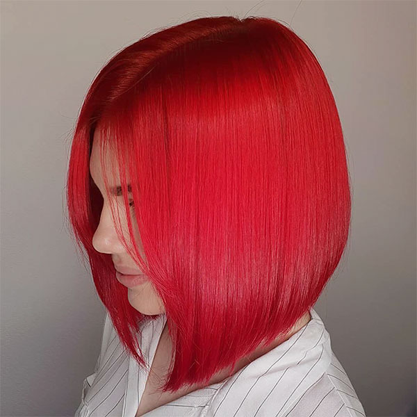 short hair color red