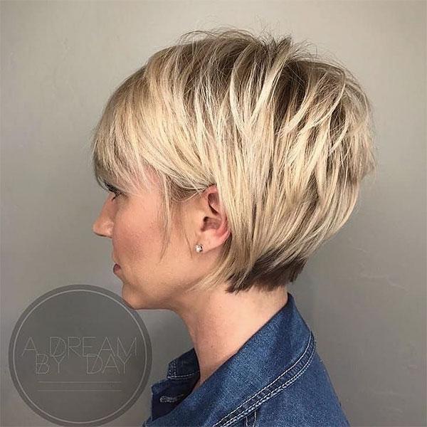 short hair cut blonde
