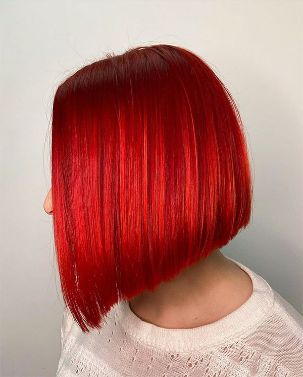 short hair red color