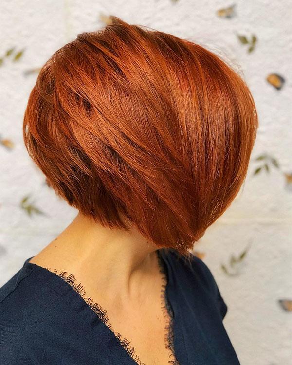 short hair red hair