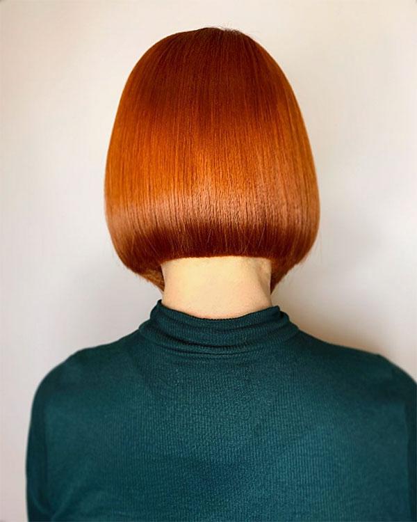 short hair redhead