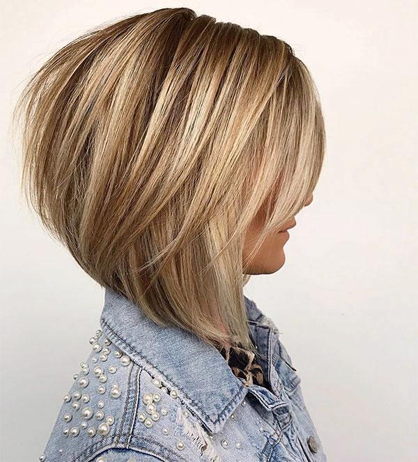 short hair women blonde