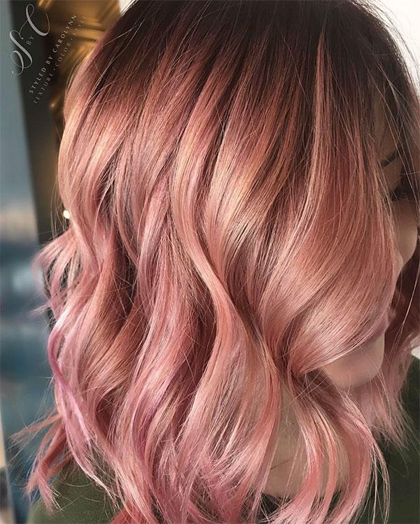 short hot pink