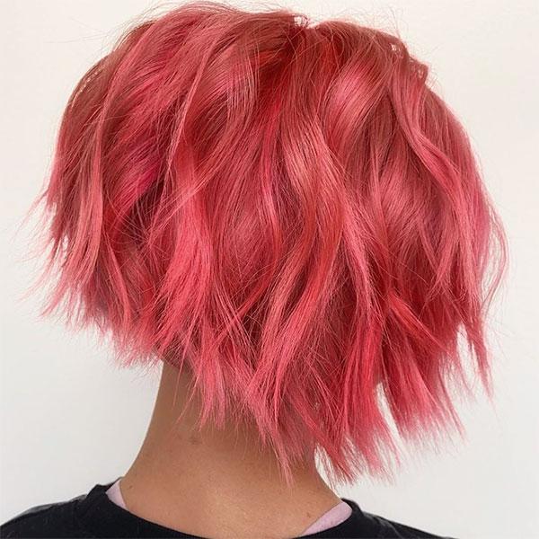 short pink cuts