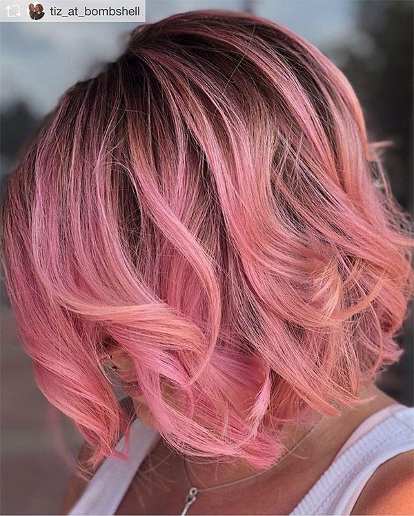 short pink hair color ideas