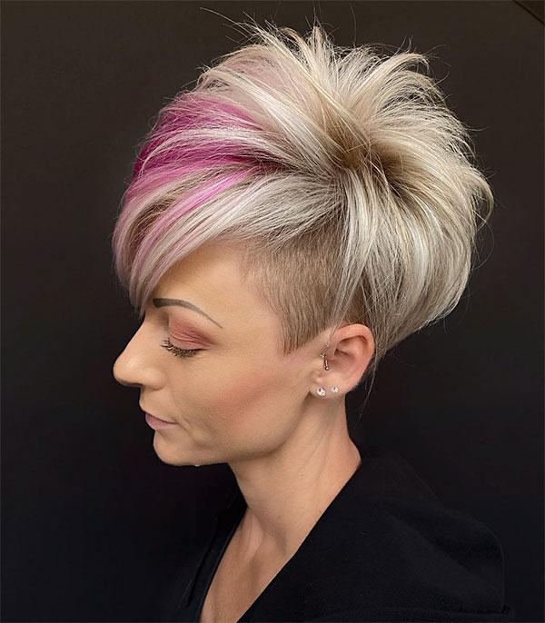 short pink hair colour ideas