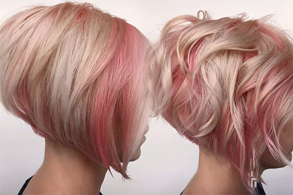 short pink hair cuts