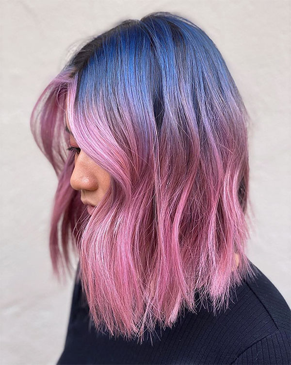 short pink hair looks