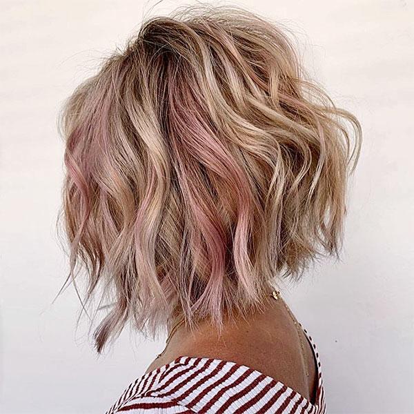 short pink haircuts female