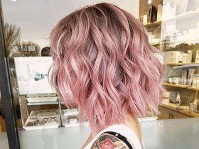 short pink hairdos