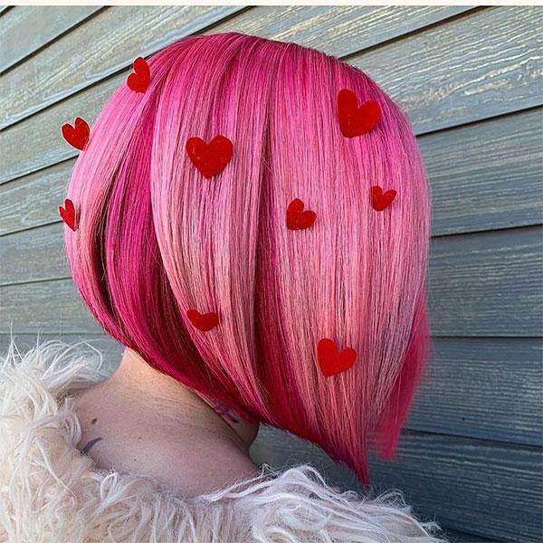 short pink ladies hairstyles