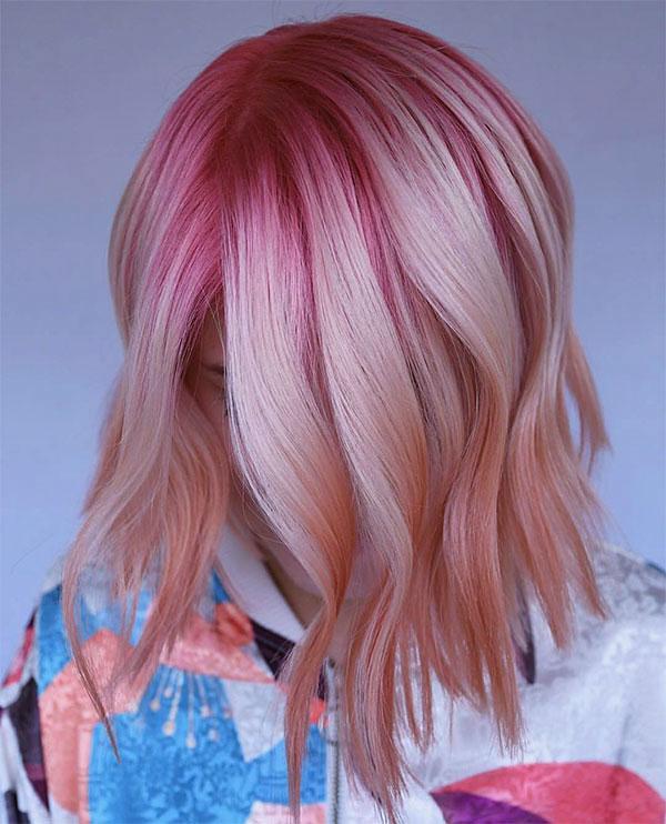 short pink styles