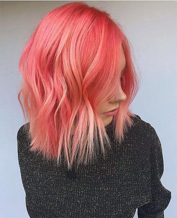 short pink woman