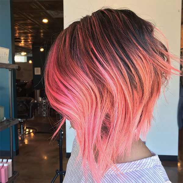 super short pink haircuts