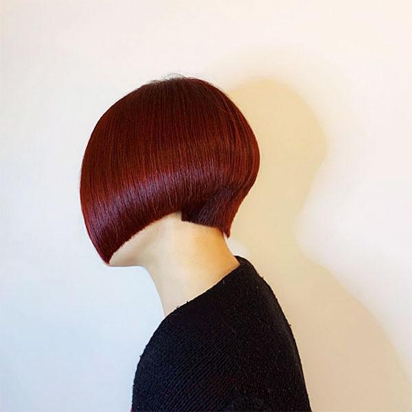 super short red hair