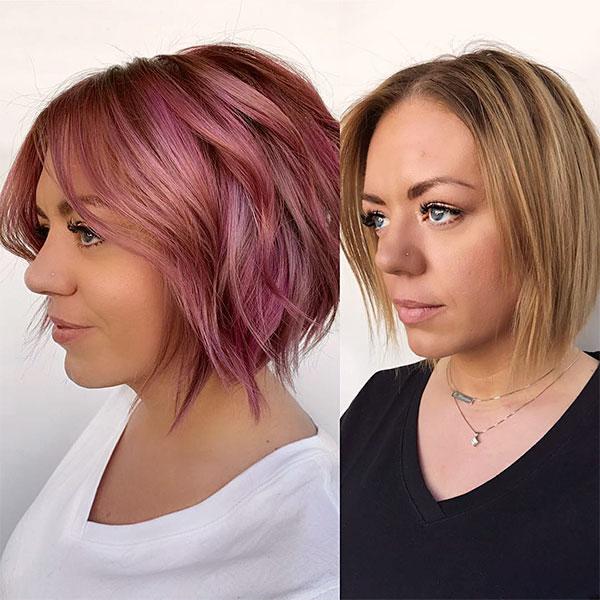 trendy short pink hairstyles