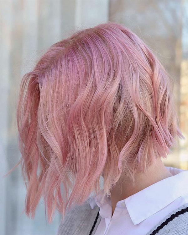 winter pink hair
