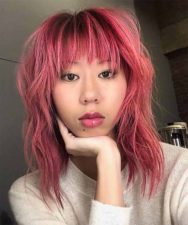 women's pink short haircuts